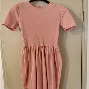 Vintage Adrienne Vittadini Wool Light Pink Dress